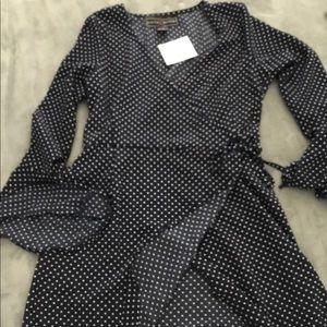 Wrap polkadot Dress